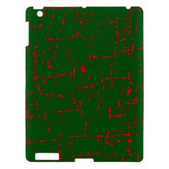 Green and red pattern Apple iPad 3/4 Hardshell Case