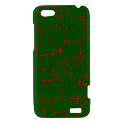 Green and red pattern HTC One V Hardshell Case
