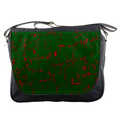 Green and red pattern Messenger Bags