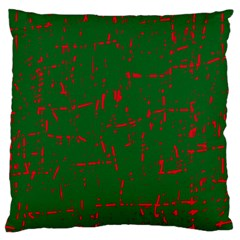 Green and red pattern Large Cushion Case (Two Sides)
