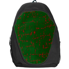 Green and red pattern Backpack Bag