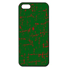 Green and red pattern Apple iPhone 5 Seamless Case (Black)