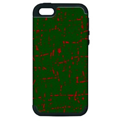 Green and red pattern Apple iPhone 5 Hardshell Case (PC+Silicone)