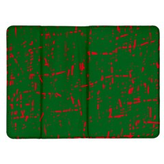 Green and red pattern Kindle Fire (1st Gen) Flip Case