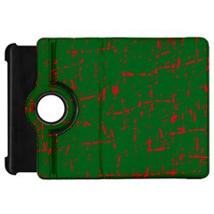 Green and red pattern Kindle Fire HD Flip 360 Case