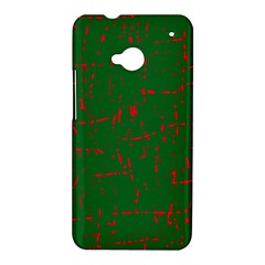 Green and red pattern HTC One M7 Hardshell Case