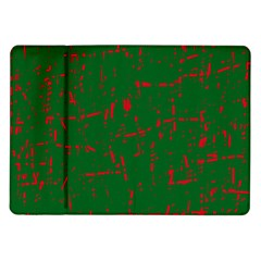 Green and red pattern Samsung Galaxy Tab 10.1  P7500 Flip Case