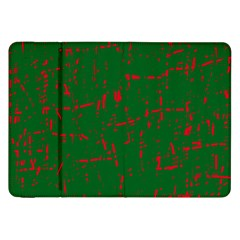 Green and red pattern Samsung Galaxy Tab 8.9  P7300 Flip Case