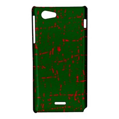 Green and red pattern Sony Xperia J