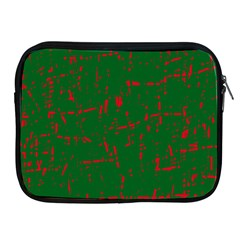 Green and red pattern Apple iPad 2/3/4 Zipper Cases