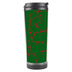 Green and red pattern Travel Tumbler