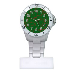Green and red pattern Plastic Nurses Watch