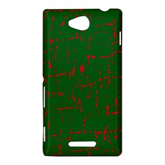 Green and red pattern Sony Xperia C (S39H)