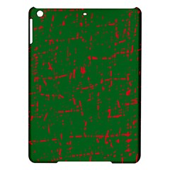 Green and red pattern iPad Air Hardshell Cases