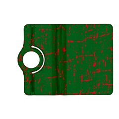 Green and red pattern Kindle Fire HD (2013) Flip 360 Case