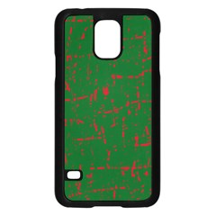 Green and red pattern Samsung Galaxy S5 Case (Black)