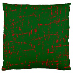 Green and red pattern Standard Flano Cushion Case (One Side)