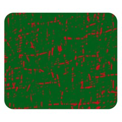 Green and red pattern Double Sided Flano Blanket (Small)