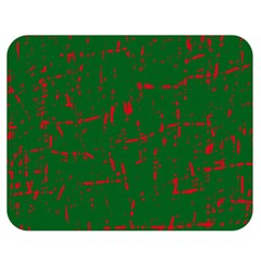 Green and red pattern Double Sided Flano Blanket (Medium)