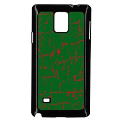 Green and red pattern Samsung Galaxy Note 4 Case (Black)