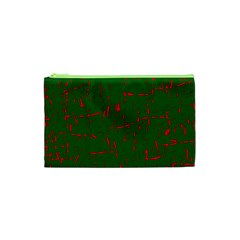 Green and red pattern Cosmetic Bag (XS)