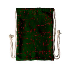Green and red pattern Drawstring Bag (Small)