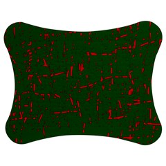 Green and red pattern Jigsaw Puzzle Photo Stand (Bow)