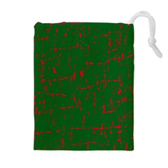 Green and red pattern Drawstring Pouches (Extra Large)