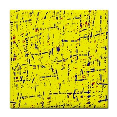 Yellow summer pattern Tile Coasters