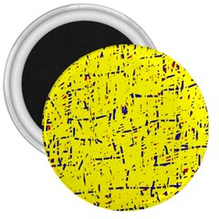 Yellow summer pattern 3  Magnets
