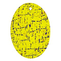 Yellow summer pattern Ornament (Oval)