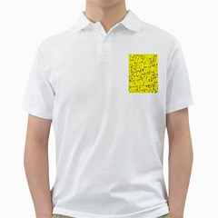 Yellow summer pattern Golf Shirts