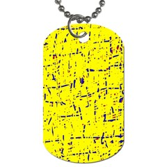 Yellow summer pattern Dog Tag (One Side)
