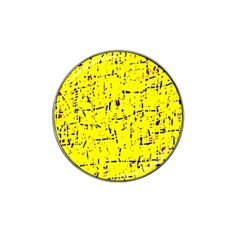 Yellow summer pattern Hat Clip Ball Marker (4 pack)