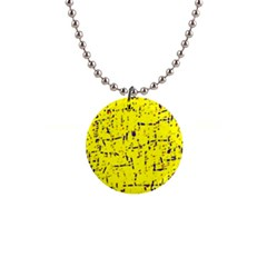 Yellow summer pattern Button Necklaces