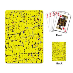 Yellow summer pattern Playing Card