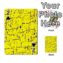 Yellow summer pattern Playing Cards 54 Designs