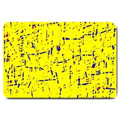 Yellow summer pattern Large Doormat