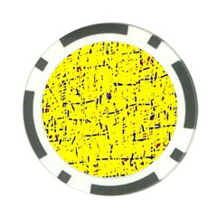 Yellow summer pattern Poker Chip Card Guards
