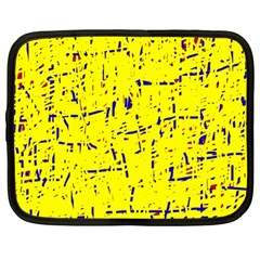 Yellow summer pattern Netbook Case (Large)