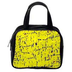 Yellow summer pattern Classic Handbags (One Side)