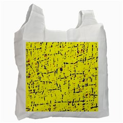 Yellow summer pattern Recycle Bag (Two Side)