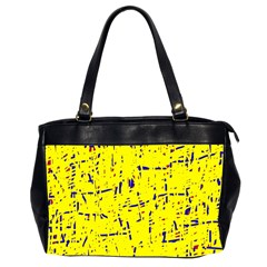 Yellow summer pattern Office Handbags (2 Sides)