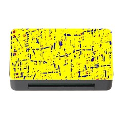 Yellow summer pattern Memory Card Reader with CF