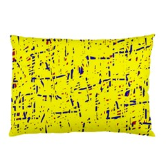 Yellow summer pattern Pillow Case (Two Sides)