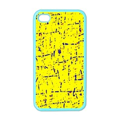 Yellow summer pattern Apple iPhone 4 Case (Color)