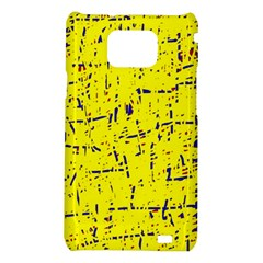 Yellow summer pattern Samsung Galaxy S2 i9100 Hardshell Case