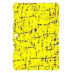 Yellow summer pattern Samsung Galaxy Tab 10.1  P7500 Hardshell Case