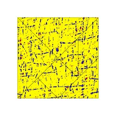 Yellow summer pattern Acrylic Tangram Puzzle (4  x 4 )