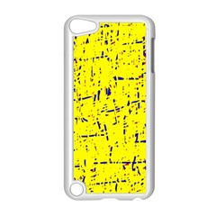 Yellow summer pattern Apple iPod Touch 5 Case (White)